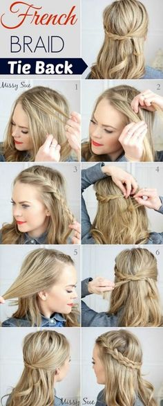 French Braid Hairstyles for Long Hair Gorgeous hair idea for blonde hair! Recreate this look using hair products from .Gorgeous hair idea for blonde hair! Recreate this look using hair products from . French Braid Hairstyles, Diy Hairstyles, Pretty Hairstyles, Wedding Hairstyles, Hairstyle Tutorials, Hairstyle Ideas, Hairstyles Pictures, French Braided Bangs, Braided Updo