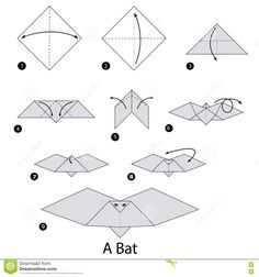 Step Instructions How To Make Origami Bat