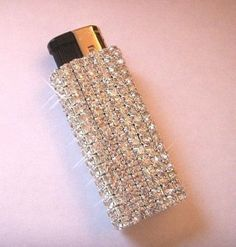 ~Premier Quality~ Crystal Rhinestone Purse Cigarette Lighter Case GLAM