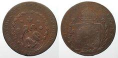 1835 Brasilien BRAZIL 40 Reis ND(1835) on 80 Reis 1829 R PEDRO I copper VF #… Brazil, Personalized Items, Copper, Rice