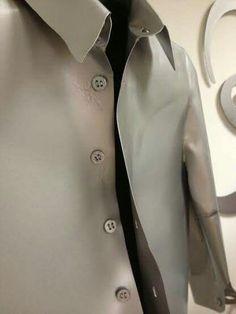 Camicia realizzata in ferro con finitura allominio