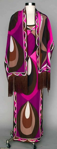 Nadire Atas on Emilio Pucci Augusta Auctions, April 2013 - NYC: Pucci Ensemble, Late Mod Fashion, 1960s Fashion, Vintage Fashion, Fashion Ideas, Emilio Pucci, Navajo, Gypsy, Vogue, Mode Vintage
