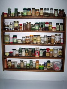 You HAVE TO have a stocked spice/herb rack...