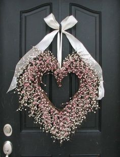Valentine Wreath - The Friendship Wreath - Door Wreaths What a grand way to celebrate your special friend on Valentines Day! Valentine Day Wreaths, Valentines Day Decorations, Valentine Crafts, Holiday Crafts, Christmas Decorations, Holiday Decor, Thanksgiving Holiday, Christmas Holiday, Wreath Crafts