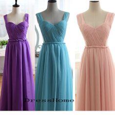 Long Bridesmaid Dress  Purple bridesmaid Dress / Blue by DressHome, $139.99 @Melissa B