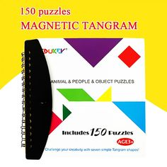 Puzzles Magnetic Educational Magic Book Suit For Kids Family Parent Child Gift #Unbranded #TangramJigsawBoard