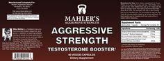 Aggressive Strength Testosterone Booster - Mahler's Aggressive Strength