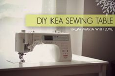 DIY IKEA Sewing Table Tutorial from Marta with Love - wonder if the hubs could make this for me? Also maybe put on casters and store in the closet?