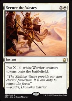 Secure the Wastes mtg Magic the Gathering Dragons of Tarkir white rare instant card warriors Mtg Decks, Nerd Art, Magic The Gathering Cards, Collector Cards, White Magic, Magic Cards, Wizards Of The Coast, Geek Out, Summoning