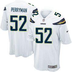 Men's San Diego Chargers #52 Denzel Perryman White Road NFL Nike Elite Jersey