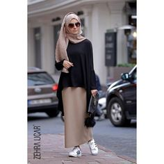 Hijab Styles 498140408776699960 - Source by aimiamathulla Hijab Chic, Casual Hijab Outfit, Hijab Dress, Islamic Fashion, Muslim Fashion, Modest Fashion, Fashion Outfits, Street Hijab Fashion, Abaya Fashion