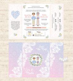 traditional wedding invitation adat minang