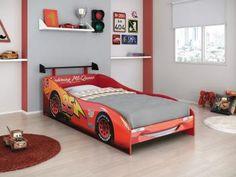 Cama Infantil Pura Magia - Carros Disney Star com Aerofólio