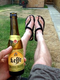 Luna sandals and beer