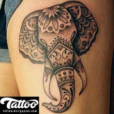 2015 Elephant Animal Tattoo Design - Tattoo Design Plan