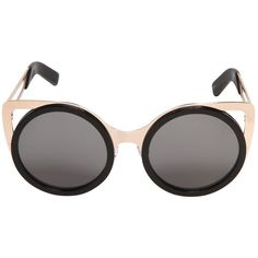 ERDEM BY LINDA FARROW Rounded Acetate & Metal Sunglasses ($435) via Polyvore