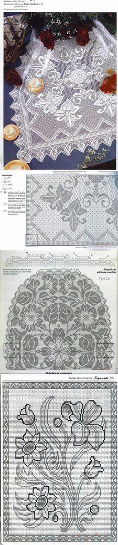 crocheted napkins..<3 Deniz <3