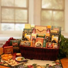 Gourmet Gift baskets snack gift baskets corporate gift basket Corporate Gift Baskets Associates Classic Selection Deluxe Meats & Cheese