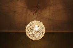 Lamp made of yarn - DIY Ceiling Lights, Lighting, Diy, Inspiration, Home Decor, Threading, Biblical Inspiration, Decoration Home, Bricolage