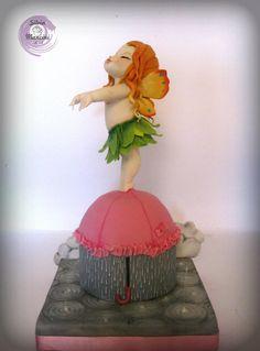The little fairy of rain  - Cake by Silvia Mancini Cake Art