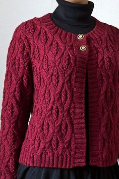 Ravelry: p.61 Couture Knit Life Cardigan pattern by Hitomi Shida (志田 ひとみ)
