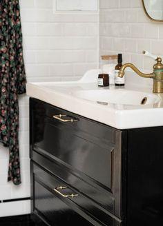 Bathroom Hacks, Ikea Bathroom, Bathroom Ideas, Ikea Hack Vanity, Up Halloween, Ikea Hacks, Diy, House, Rest Room