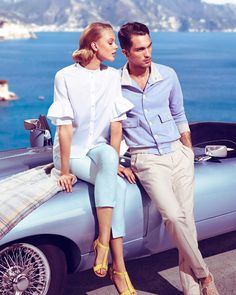 """To Catch A Thief"" Inspired Photoshoot - Frida Gustavsson & Tobias Sorensen for Siviglia Spring Summer 2013"