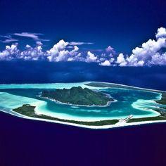 Maupiti, French Polynesian island.