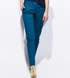 Pantalon coton satiné