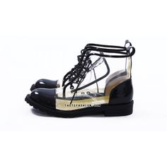 patent leather clear boots