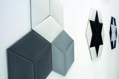#tonalite progetto #cushion formato #rombo con superficie matt e lucida. quando la #piastrella diventa complemento di #arredo