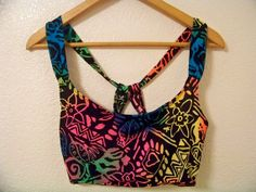 M / L 90's NEON ABSTRACT RAINBOW Crop Top by DaizyLemonade on Etsy, $28.50