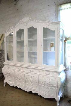 NICOLE di riserva dipinta Cottage francese romantico bianco