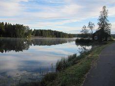 Sweden, Säfsen - A morning yielded this beautiful photo on the Säfsjön Lake.