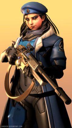 Ana - Captain Amari - Overwatch by lemon100 on DeviantArt