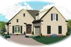 European Style House Plan - 3 Beds 2.5 Baths 2063 Sq/Ft Plan #81-1419 Exterior - Front Elevation - Houseplans.com