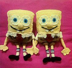 Amigurumi sponge bob