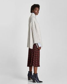 OVERSIZED HIGH NECK SWEATER-View all-KNITWEAR-WOMAN   ZARA United Kingdom Zara United Kingdom, Zara United States, Oversized Polo, Polo Neck, Pullover, Knitwear, Your Style, Sweaters For Women, Normcore