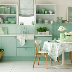 cuisine couleur vert anis - Poubelle De Cuisine Vert Pastel