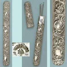 Antique Needle Cases | Antique American Sterling Silver Needle Case by Unger Bros Circa 1900 ...