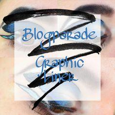 #graphicliner #eyeliner #makeup #blogparade #blue #beauty #blogger #graphic
