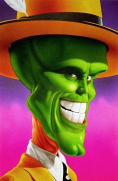 The Mask ( Jim Carrey) de caricature Cartoon Faces, Funny Faces, Cartoon Characters, Caricature Artist, Caricature Drawing, Funny Caricatures, Celebrity Caricatures, Cartoon Kunst, Cartoon Art