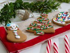 "Gingerbread Cookies (Cookie Swap) - Trisha Yearwood, ""Trisha's Southern Kitchen"" on the Food Network. Holiday Treats, Christmas Treats, Holiday Recipes, Christmas Recipes, Christmas Fun, Winter Recipes, Holiday Cookies, Danish Christmas, Fancy Cookies"