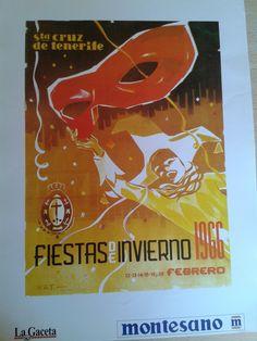 Cartel de las Fiestas de Invierno de Santa Cruz de Tenerife, año 1966