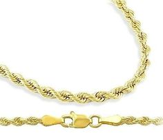 14k Solid Yellow Gold Rope Chain Men Womens Necklace Diamondcut 25mm  18 inch -- Be sure to check out this awesome product. Note: It's an affiliate link to Amazon