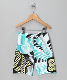 Take a look at this White Shattered Boardshorts         by Fox on #zulily today!