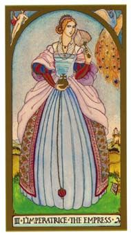 June 13 Tarot Card: The Empress (Renaissance deck) Breathe in and out with generosity, warmth and love now -- take it in to your spirit, and let it out to the world