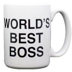 World's Best Boss Mug – #TheOffice #Gift      Get your Scranton on.. Dunder Mifflin (The Office) World's Best Boss TV Television Show Ceramic Boxed Gift Coffee (Tea, Cocoa) 11 Oz. Mug  $12.95