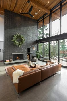 Find out why modern living room design is the way to go! A living room design to make any living room decor ideas be the brightest of them all. Living Room Interior, Home Living Room, Home Interior Design, Apartment Living, Interior Architecture, Modern Home Interior, Interior Ideas, Contemporary Interior, Rustic Apartment