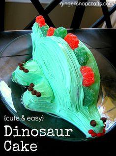 Ginger Snap Crafts: dinosaur birthday cake {tutorial}